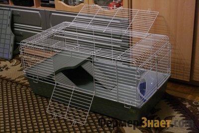 Удобная клетка для кроликов