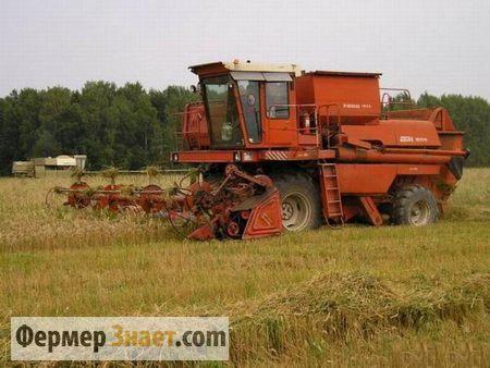 Комбайн Дон 1500 молотит пшеницу