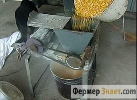 Самодельная зернодробилка