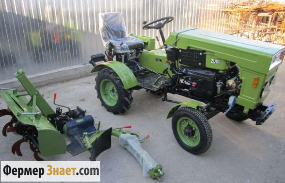 Мини-трактор с почвофрезой
