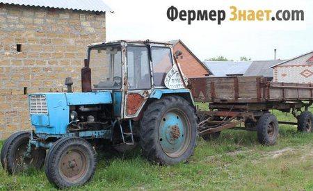 ЮМЗ-6 с прицепом