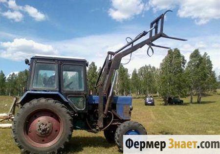 МТЗ-82 с самодельным КУНом