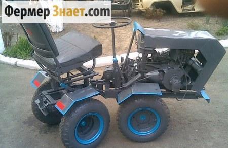 Самоделеный мини-трактор с ломающейся рамой