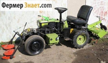 "Мини-трактор из мотоблока ""Зубр"""
