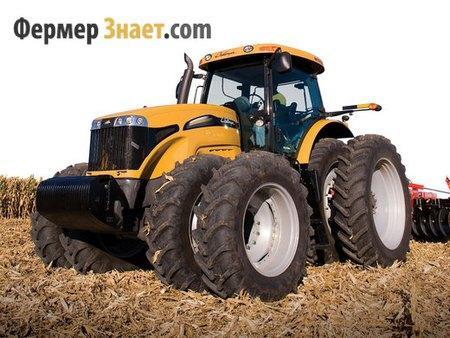 Трактор на сдвоенной паре колес