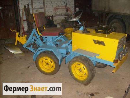 Мини-трактор на ломаной раме