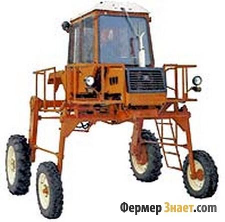 Трактор с высоким дорожным просветом