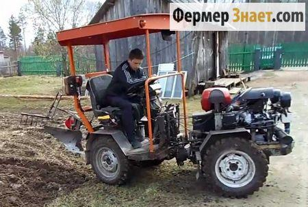Самодельный мини-трактор 4*4