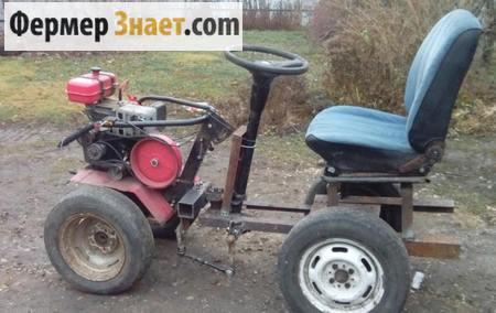 Самодельный мини-трактор 4*2